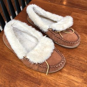 Worn j crew slippers